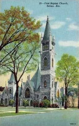 First Baptist Church - Selma, Alabama AL Postcard