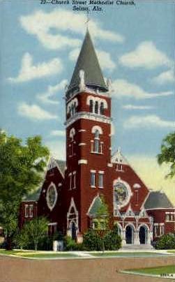 Church Street Methodist Church - Selma, Alabama AL Postcard