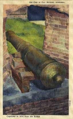 Old Gun - Fort Morgan, Alabama AL Postcard