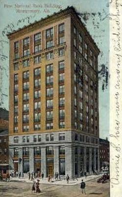 First National Bank Building - Montgomery, Alabama AL Postcard