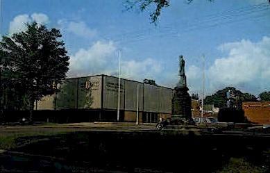 Noble Statue and Post Office - Anniston, Alabama AL Postcard
