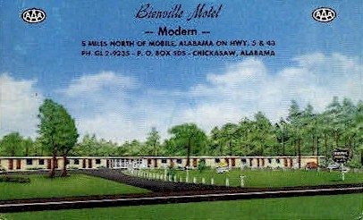 Bienville Motel - Mobile, Alabama AL Postcard