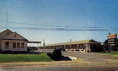 Gordo Motel - Alabama AL Postcard