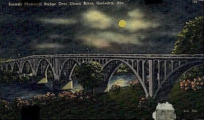 Etowah Memorial Bridge - Gadsden, Alabama AL Postcard