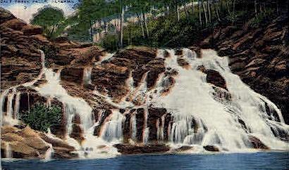 Salt Creek Falls - Anniston, Alabama AL Postcard