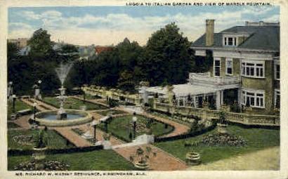 Richard W. Massey Residence - Birmingham, Alabama AL Postcard