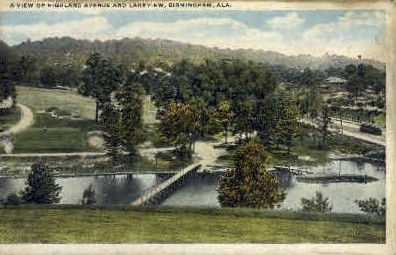 Highland Avenue - Birmingham, Alabama AL Postcard