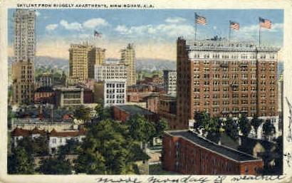 Ridgely Aparments - Birmingham, Alabama AL Postcard