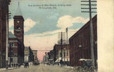 Second Avenue - Birmingham, Alabama AL Postcard