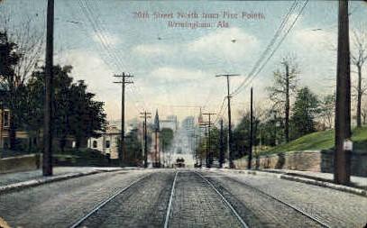 Twentieth Street - Birmingham, Alabama AL Postcard