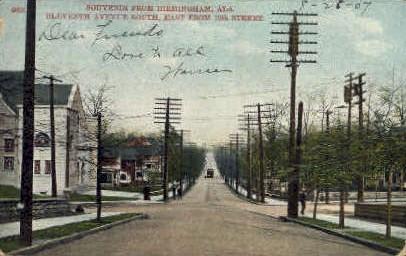 Eleventh Avenue - Birmingham, Alabama AL Postcard