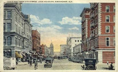 Nineteenth Avenue - Birmingham, Alabama AL Postcard