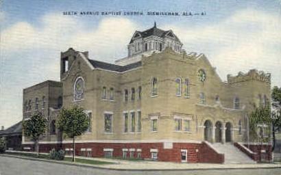 Sixth Avenue Baptist Church - Birmingham, Alabama AL Postcard