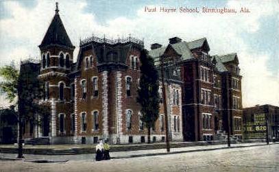 Paul hayne School - Birmingham, Alabama AL Postcard
