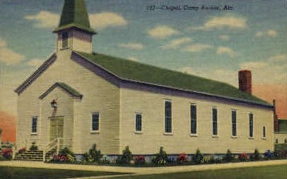 Chapel   - Camp Rucker, Alabama AL Postcard