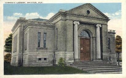 Carnegie Library - Decatur, Alabama AL Postcard