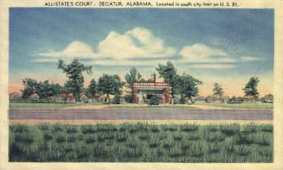 All-State's Court - Decatur, Alabama AL Postcard