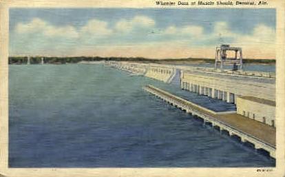 Wheeler Dam - Decatur, Alabama AL Postcard