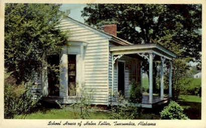 Schoolhouse of Helen Keller - Tuscumbia, Alabama AL Postcard