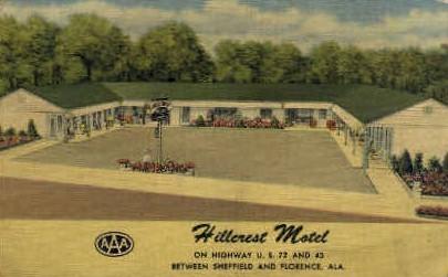 Hillcrest Motel - Florence, Alabama AL Postcard