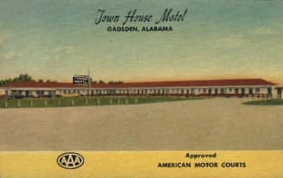Town House Motel - Gadsden, Alabama AL Postcard