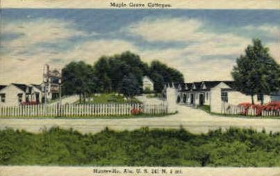 Maple Grove Cottages - Huntsville, Alabama AL Postcard