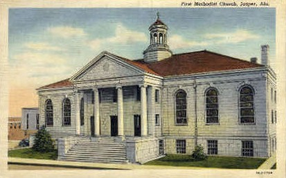 First Methodist Church - Jasper, Alabama AL Postcard
