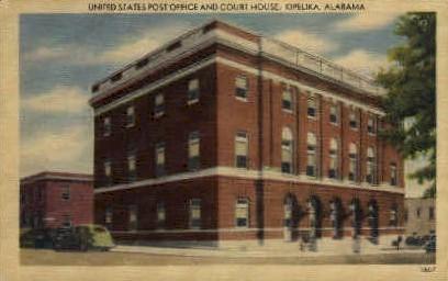 U. S. Post Office - Opelika, Alabama AL Postcard