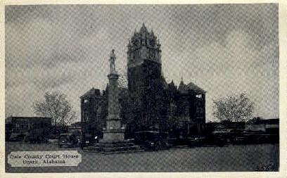 Dale County Court House - Ozark, Alabama AL Postcard