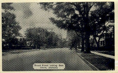 Broad Street - Ozark, Alabama AL Postcard
