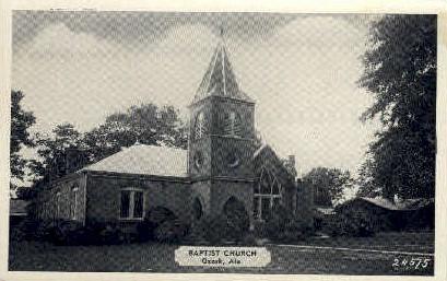 Baptist Church - Ozark, Alabama AL Postcard