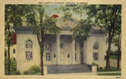First Baptist Church - Opelika, Alabama AL Postcard