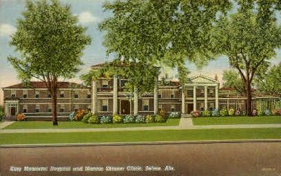 King Memorial Hospital - Selma, Alabama AL Postcard
