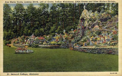 Ave Maria Grotto - St Bernard, Alabama AL Postcard