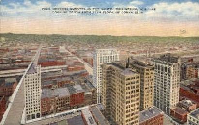 Heaviest corners in the South - Birmingham, Alabama AL Postcard
