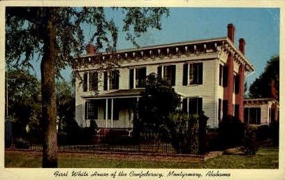 White House of the Confederacy - Montgomery, Alabama AL Postcard