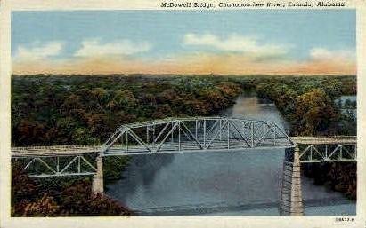 McDowell Bridge - Eufaula, Alabama AL Postcard