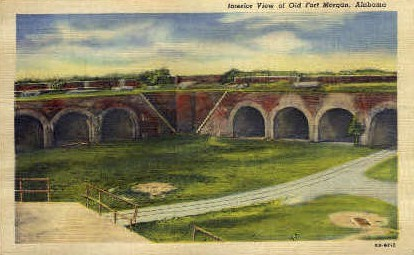 Old Fort Morgan - Alabama AL Postcard