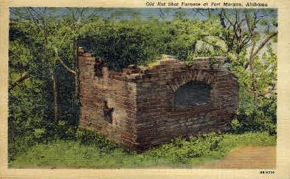 Hot Shot Furnace - Fort Morgan, Alabama AL Postcard