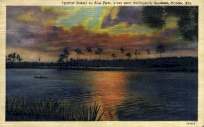 East Fowl River - Mobile, Alabama AL Postcard