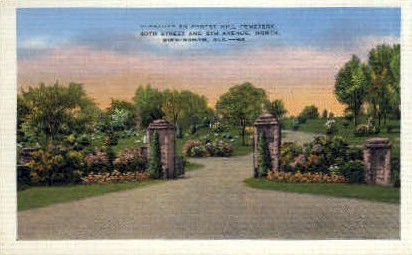 Forest Hill Cemetery - Birmingham, Alabama AL Postcard