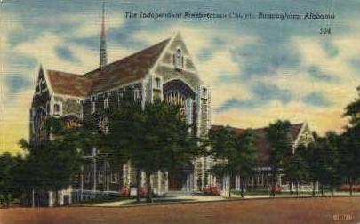Independent Presbyterian Church - Birmingham, Alabama AL Postcard