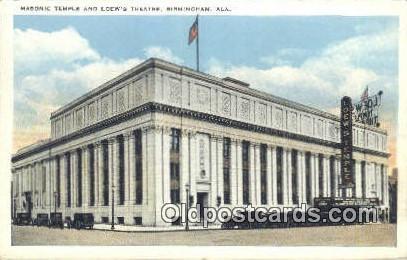 Masonic Temple & Loew's Theatre - Birmingham, Alabama AL Postcard