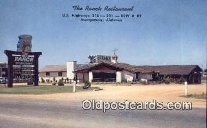 Ranch Restaurant - Montgomery, Alabama AL Postcard