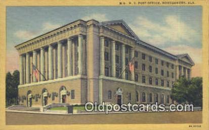 US Post Office - Montgomery, Alabama AL Postcard