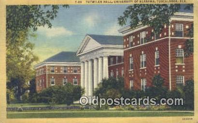 Tutwiler Hall, University of Alabama - Tuscaloosa Postcard
