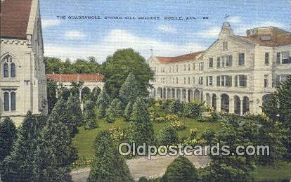 Quadrangel, Spring Hill College - Mobile, Alabama AL Postcard
