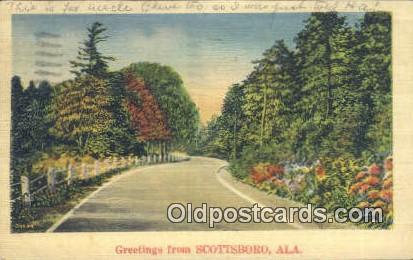 Scottsboro, Alabama     ;     Scottsboro, AL Postcard