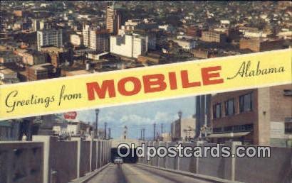 Mobile, AL     ;     Mobile, Alabama Postcard
