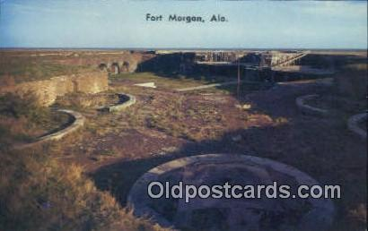 Fort Morgan, Alabama     ;     Fort Morgan, AL Postcard
